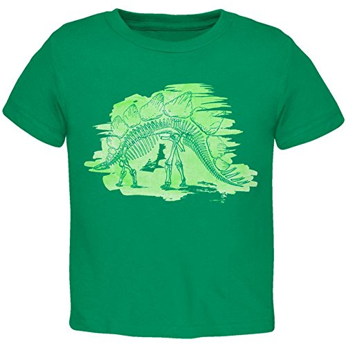 Price comparison product image Old Glory Dinosaur Fossil Stegosaurus Toddler T Shirt Kelly Green 3T