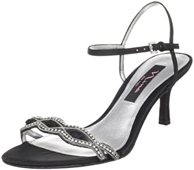 Nina Women's Gineta Ankle-Strap Sandal,Black,5 M US