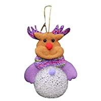 Hot Sale!DEESEE(TM)Stylish Christmas Decoration Glow With Lamp Snow Small Light Crystal Snowman