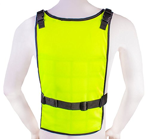 Self Charging High Vis Lime Cooling Vest with Inserts by AllTuffUSA (Image #3)