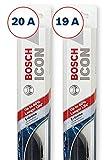 Bosch ICON Wiper Blades (Set of 2) Fits 1995-92 Hyundai Elantra; 1994-91 Nissan Sentra; 2001-95 Suzuki Swift & More, Up to 40% Longer Life
