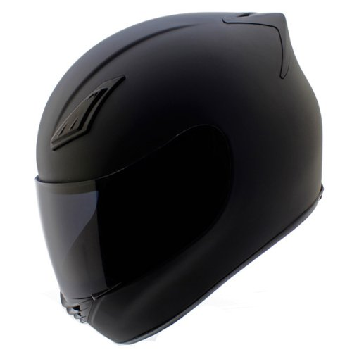 Duke Helmets DK-120 Full Face Motorcycle Helmet, Small, Matte Black