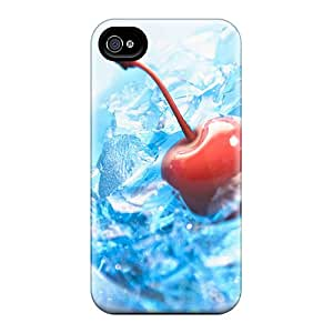 Premium [bhnWcjh2625rwlFF]cherry And Ice Case For Iphone 4/4s- Eco-friendly Packaging