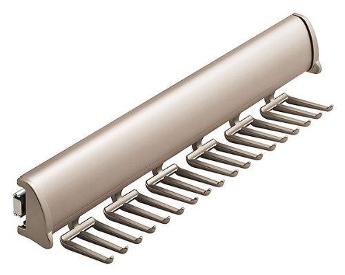 Synergy Elite Tie Rack, with Full Extension Slide,choose Your Finish:chrome,brass,nickel. (Matt Nickel) (Finish Matt Nickel)