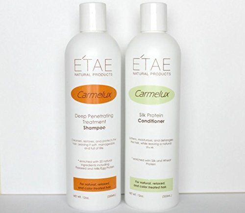 - E'TAE Natural Products - Carmelux Shampoo 12oz and Conditioner 12oz Duo