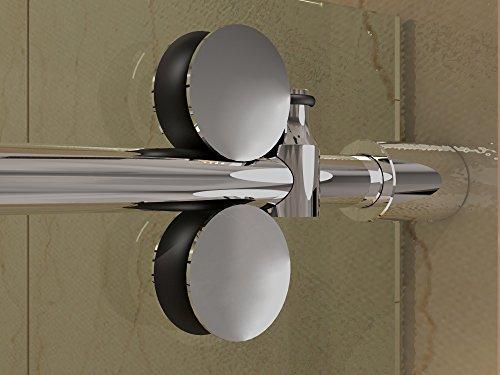 DIYHD 6.6ft Frameless chrome finished stainless steel sli...
