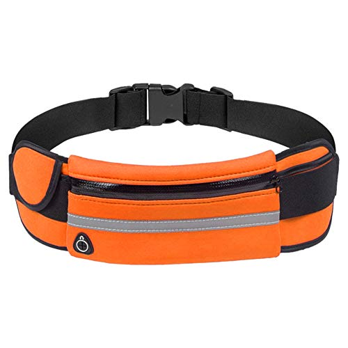 Waist Bag Casual Running Anti-Theft Sport Running Fitness Waterproof Waist Belt Bag Phone Bottle Pouch - Orange Sports Waterproof Ultra Slim Adjustable Strap for Outdoors Workout Traveling top0dream