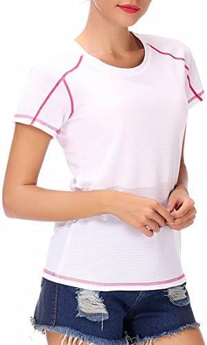 レディース スポーツTシャツ フィットネス ヨガウェア トレーニングウェア ランニング 半袖 ヨガ ジム ラウンドネック tシャツ 吸汗速乾 スポーツウェア