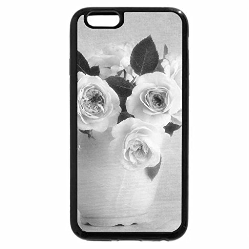 iPhone 6S Plus Case, iPhone 6 Plus Case (Black & White) - Vase of Roses