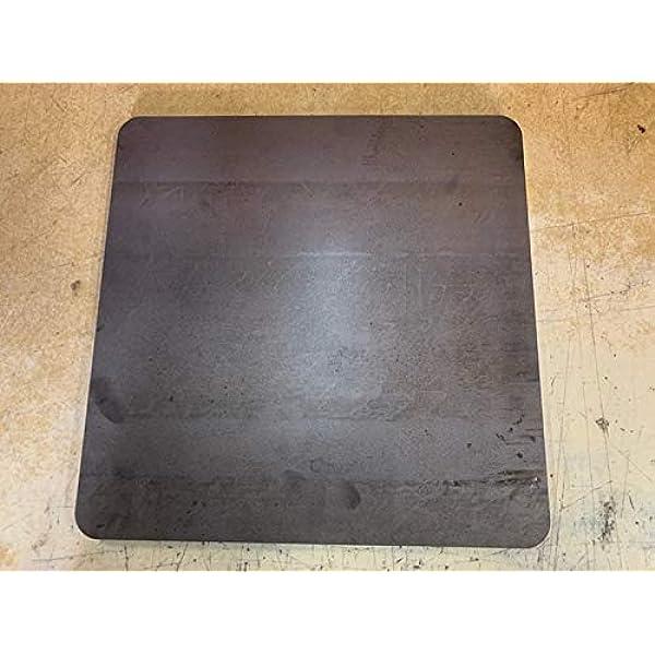 """1//2/"""" x 16/"""" x 16/"""" 1//2/"""" Seasoned Steel Pizza Baking Plate A36 Steel .5/"""""""