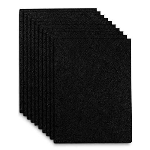 self-cutting 30cm * 21cm black WADY felt pads self-adhesive for protecting furniture and floor 5 pieces