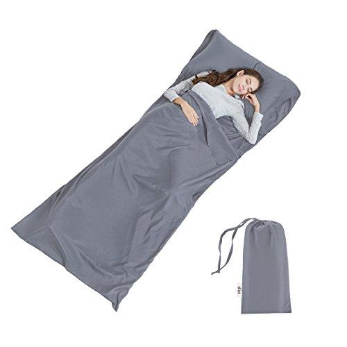 Soft Sleeping Bag Liner - Lightweight Travel Sheet Camping Sleep Bag...