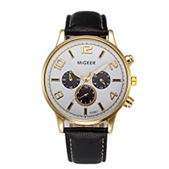 Men's Watches on Clearance,Leather Strap...