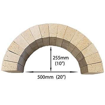 Ladrillos refractarios de arco juego de 15 Bricks - Ladrillos De Arcilla refractaria: Amazon.es: Jardín
