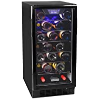 Koldfront BWC300BL 30 Bottle 15 Inch Built-In Single Zone Wine Cooler - Black