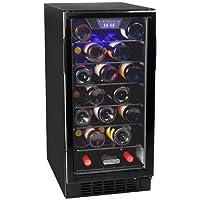 Koldfront BWC300BL 30 Bottle 15 Inch Built-In Single Zone Wine Cooler - Black