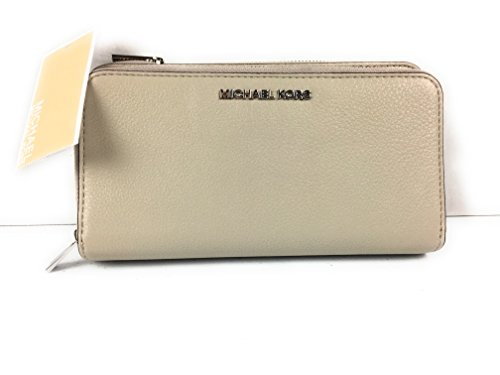 Michael Kors Adele Double Zip Wallet - Cement - 32H5SAFZ1L-092 by Michael Kors