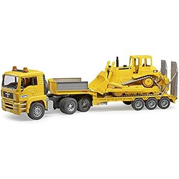 Amazon Com Bruder Toys Man Tga Low Loader Truck With Jcb