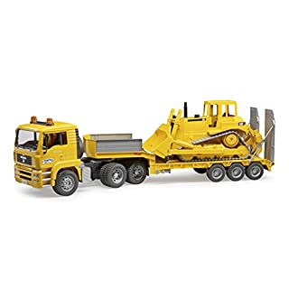 Bruder 02778 Man TGA Loader Truck with CAT Bulldozer