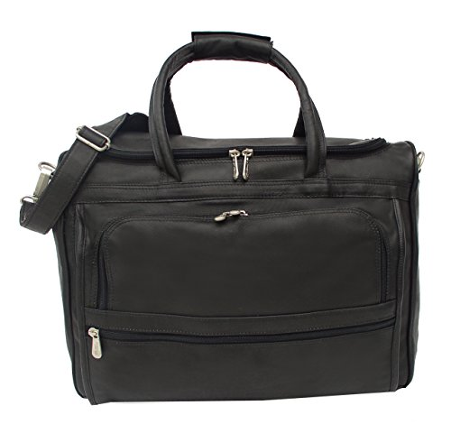 (Piel Leather Traveler Computer Carry-All Bag in Black)