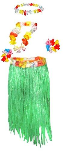 Sanctuarie Designs Womens Hula /Green Grass Skirt & Leis/ Dancer Plus Size Supersize Halloween Costume (Sexy Hula Costume)