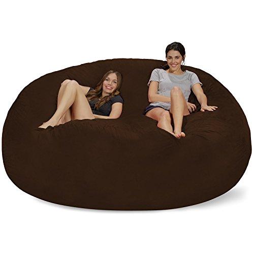 Chill Sack Bean Bag Chair: Giant 8' Memory Foam Furniture Bean Bag - Big Sofa with Soft Micro Fiber...
