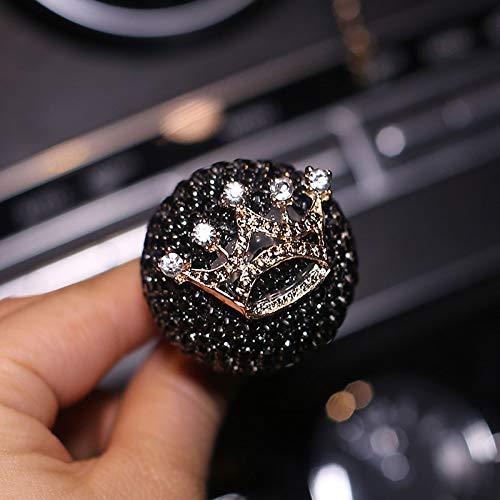 Creative car air Conditioning Vent Decorative Slide Automotive Interior Perfume Diamond Clip Women Girls (Black Crown ()