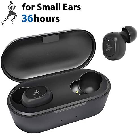 Avantree Tiny True Wireless Earbuds for Small Ear Canals, Sport Bluetooth 5.0 Earphones with Noise Isolation Mic, Comfortable Secure Fit, 36H In Ear Headphones with Wireless Charging Case – TWS115
