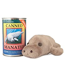 Canned Critters Stuffed Animal: Manatee 6""