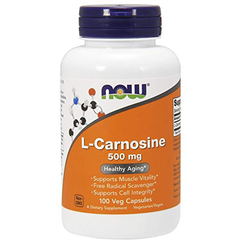 : Now Supplements, L-Carnosine (Beta-Alanyl-L-Histidine) 500 mg, Healthy Aging, 100 Veg Capsules