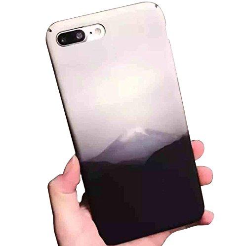 iPhone X Case, Black and White Japan Famous Fujiyama Art Print Thin Cover,  OMORRO 652da79e76