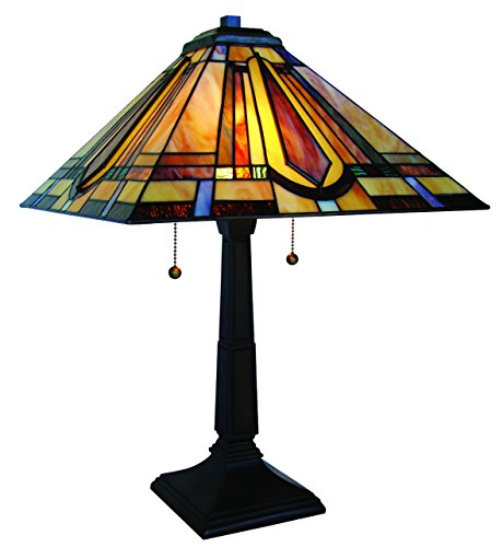 (Fine Art Lighting Tiffany Table Lamp, 16 by 23-Inch, 188 Glass)