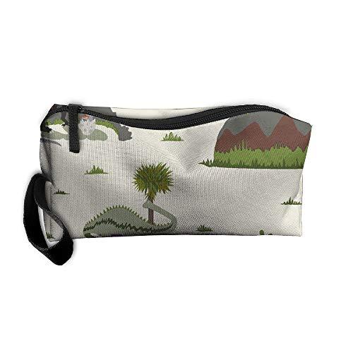 King Fong Funny Dinosaurs Makeup Bag Men/Women, Travel Toiletry Bag, Oxford Pencil Case ()