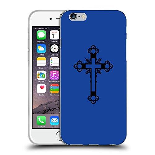 GoGoMobile Coque de Protection TPU Silicone Case pour // Q07900613 Christian Cross 15 Bleu // Apple iPhone 7