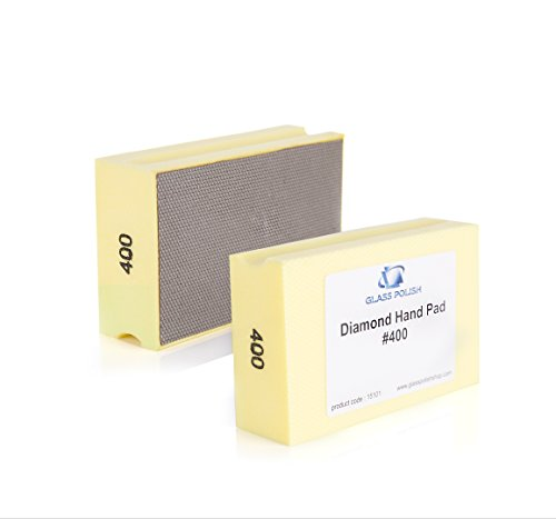 GP15101 Diamond Hand Sanding Pad for Sanding, Grinding, Polishing and Sharp Edges / for Glass, Stone, Marble, Concrete / A+ Class / GRIT 400 - (Grit Diamond Pad)