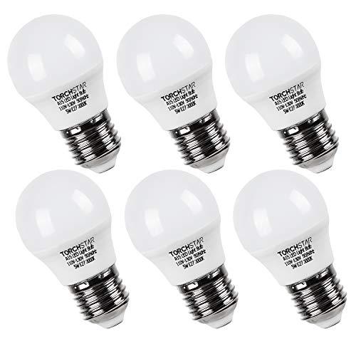 TORCHSTAR 5W A15 LED Light Bulb, 40W Equivalent Light Bulb, E26/E27 Medium Base, 450lm, 3000K Warm White, Omni-Directional LED Light Bulb, Pack of 6