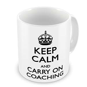 Keep Calm And Carry On entrenamiento diseño de taza–negro