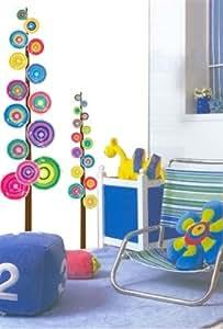 Árbol pintado - Círculos de colores - Mural - Wall Sticker Casa Art Deco Pegatinas de pared