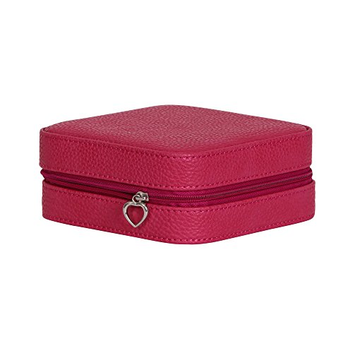 Mele & Co. 0062650 Josette Faux Leather Travel Jewelry Case, Magenta