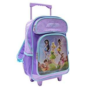 Disney By Heys Luggage Disney Fairies Follow The Pixie Dust 17 Inch Soft Side Rolling Backpack, Fairies, One Size