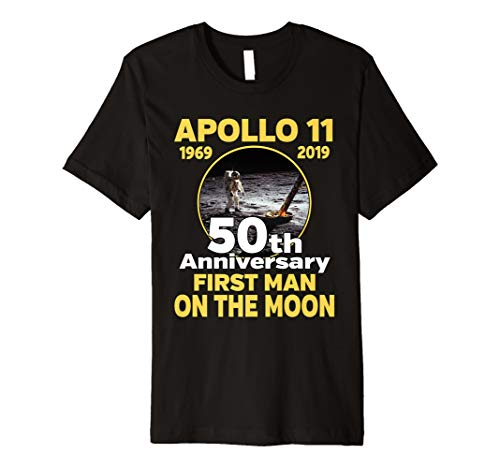 (Apollo 11 50th Anniversary T-shirt First Man On The Moon)