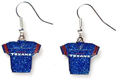 NFL Houston Texans Glitter Jersey Earrings