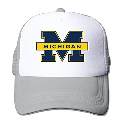 - Michigan Wolverines Logo Men And Women Classic Adjustable Fishing Cap Mesh Cap