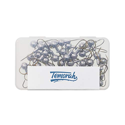 Temorah Unpainted Jig Heads,Ball Heads with Bronze Hook (Unpainted Bronze Hook, 3/8 OZ 25 PCS)