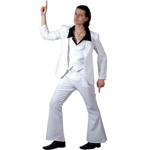 Wicked S Mens 70u0027s Disco Fever Costume for 70s Fancy Dress  sc 1 st  Amazon.com & Amazon.com: Wicked S Mens 70u0027s Disco Fever Costume for 70s Fancy ...