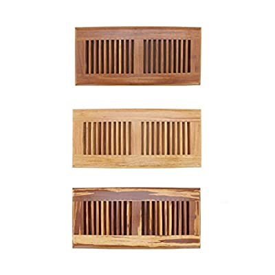 "BambooMN 4"" Inch x 12"" Inch Inch Strand Woven Bamboo Floor Register Air Vent Indent Cover"