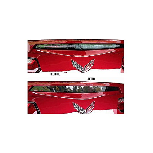 Eckler's Premier Quality Products 25335188 Corvette Third Brake Light Spoiler Acrylic Blackout Cover Corvette Third Brake Light