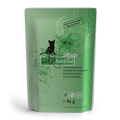 catz finefood N° 15 Huhn & Fasan Feinkost Katzenfutter nass mit viel Fleisch, Premium Nassfutter für Katzen ohne…