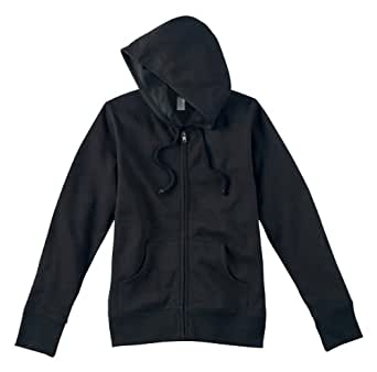 Econscious econscious Ladies' 9 oz. Organic/Recycled Full-Zip Hood, S, Black