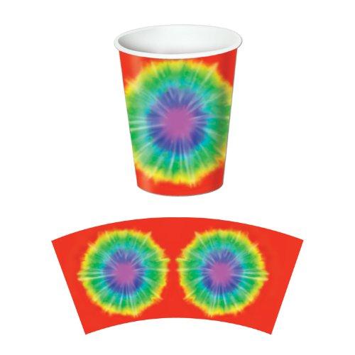 Tie-Dyed Beverage Cups   (8/Pkg)